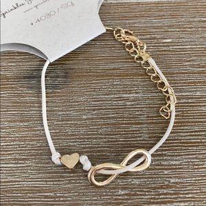 NEW Charm heart infinity adjustabl thread Bracelet
